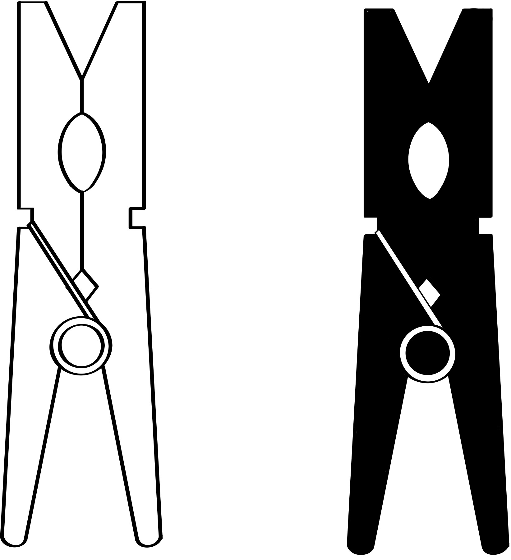 Clothes Peg Clipart.