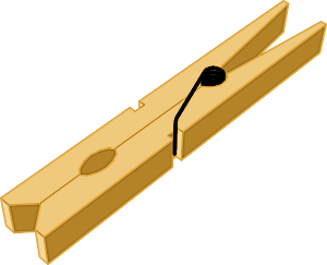 Clothes Pin Clipart.