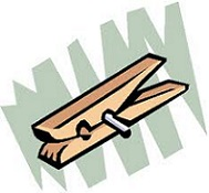 Free Clothespin Clipart.