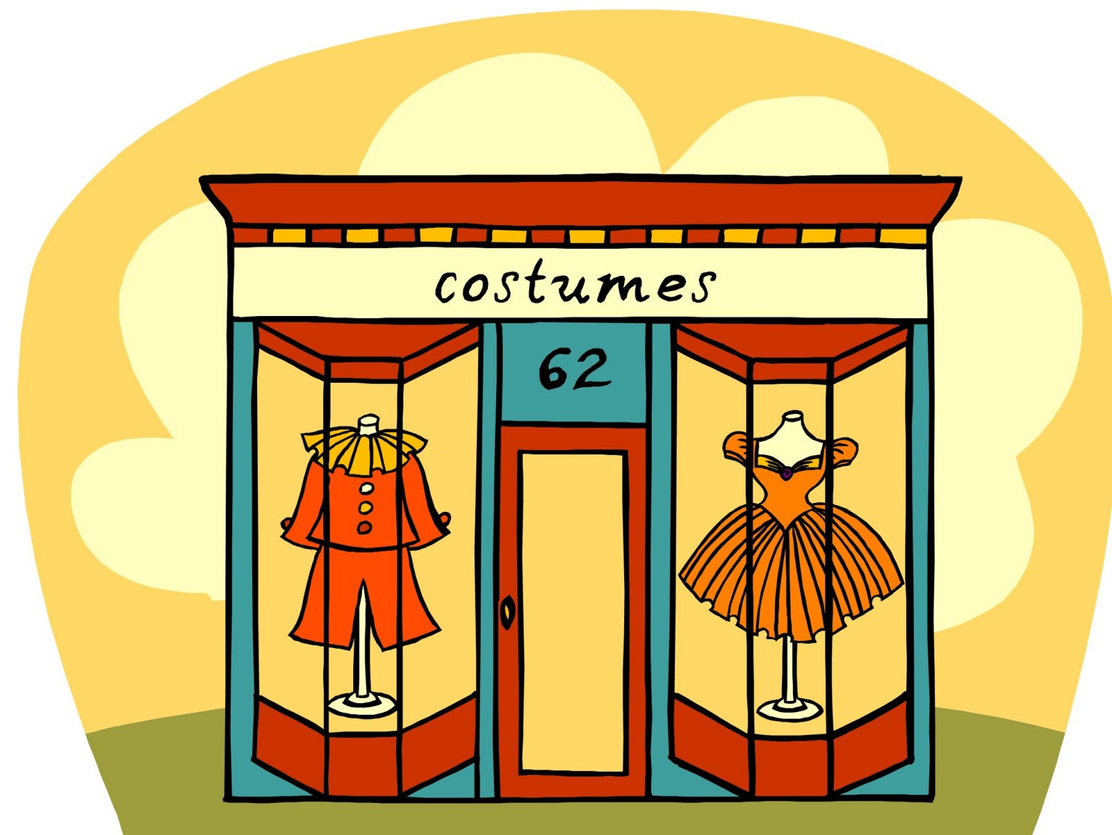 Clothing store clipart free image.