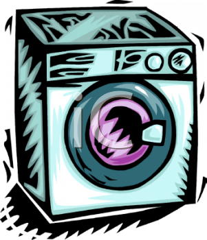 Royalty Free Clipart Image: Front Loader Washing Machine or.