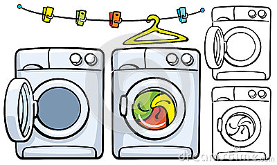 Washer And Dryer Clipart.