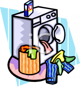 Washing Clothes Clipart.