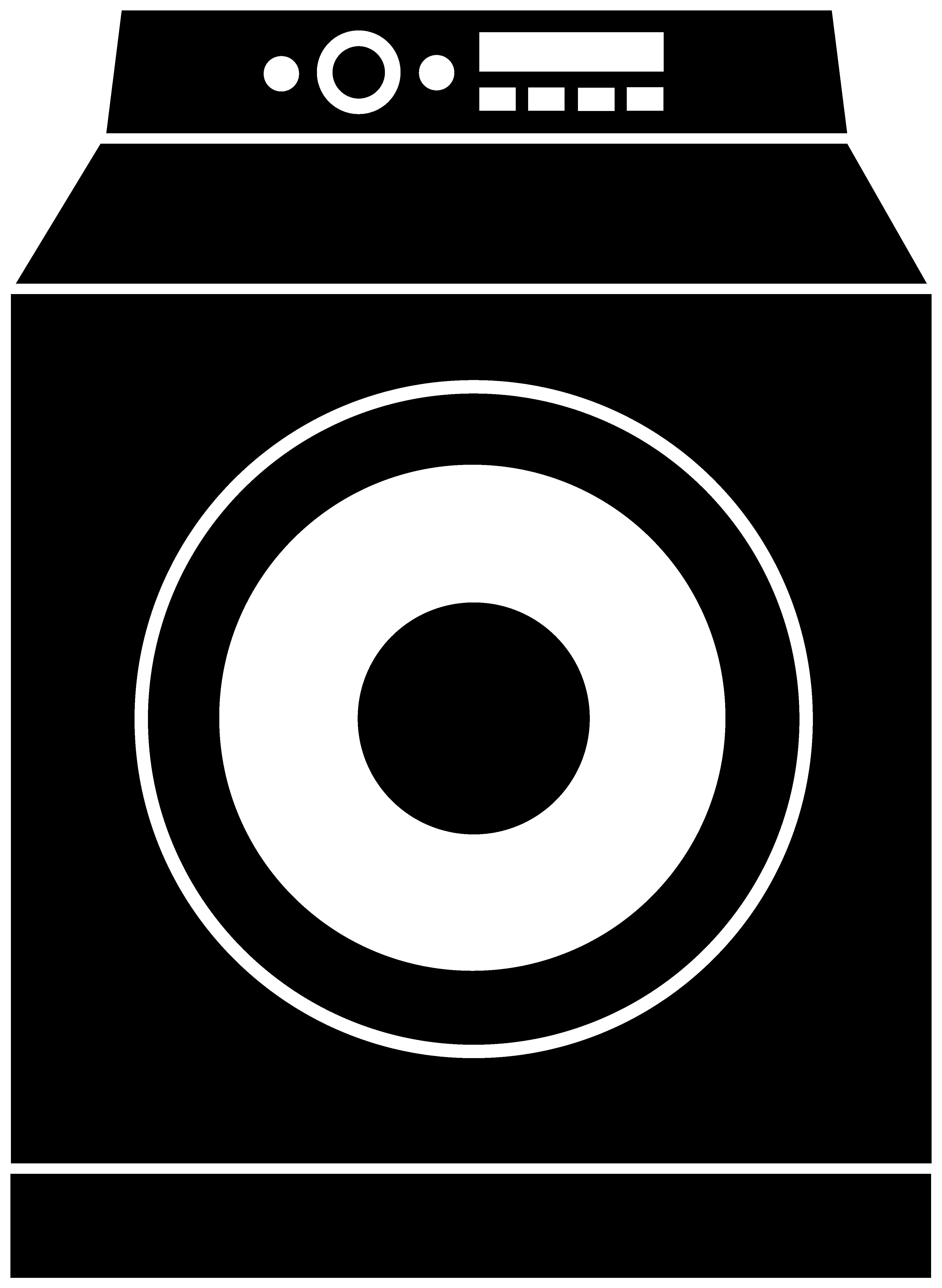 Washing Machine Silhouette Logo.