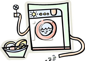 Royalty Free Clipart Image: Front Loading Clothes Washer or.