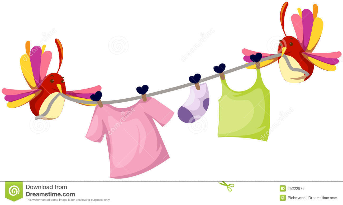 Clothesline Stock Illustrations.