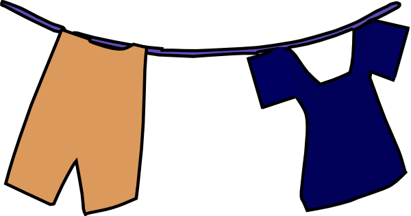 Clothesline Clipart.