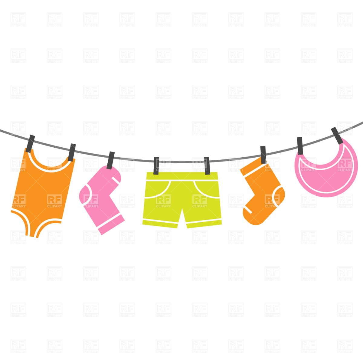 Clothes Line Clip Art Free.