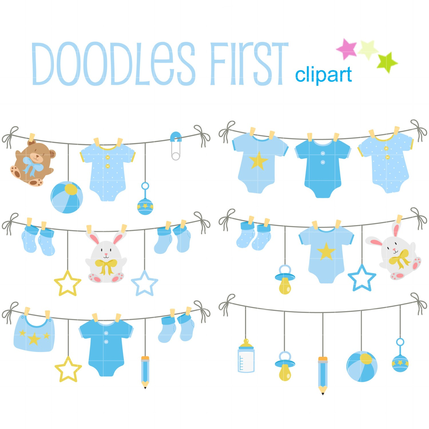Baby Clothesline Clipart Free.