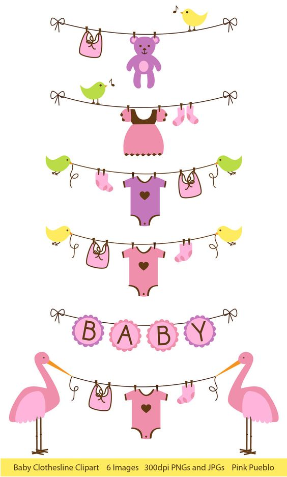 Free Baby Clothesline Clipart.