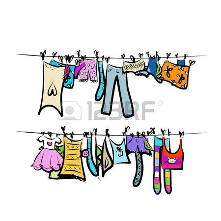 1,942 Clothesline Stock Vector Illustration And Royalty Free.