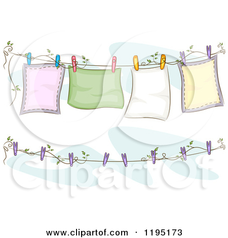 Clothes Line Free Clipart.