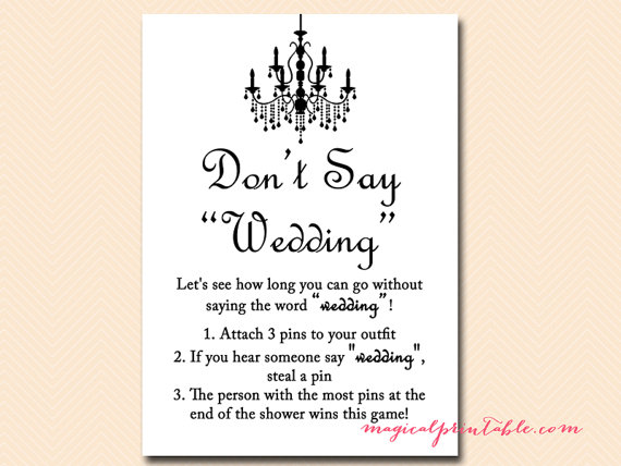 Wedding Clothespin Game Clipart.