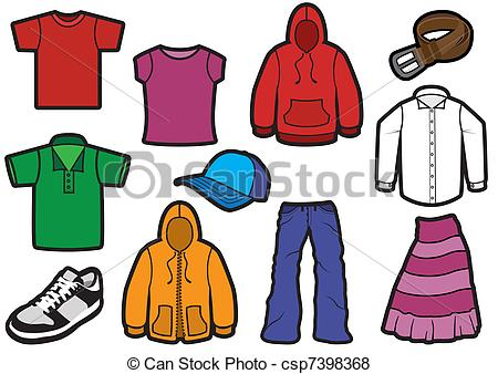 Fall Clothing Clipart.