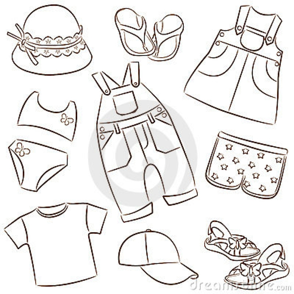 children39s summer clothes royalty free stock photography image.