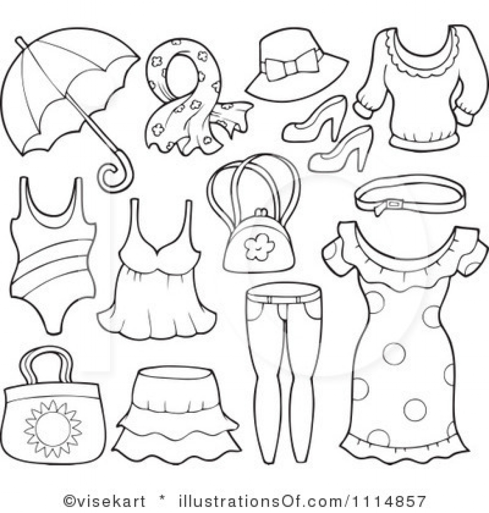 summer clothes black and white clipart inside summer clothes.