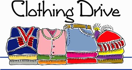 Fall Clothing Drive Clip Art.