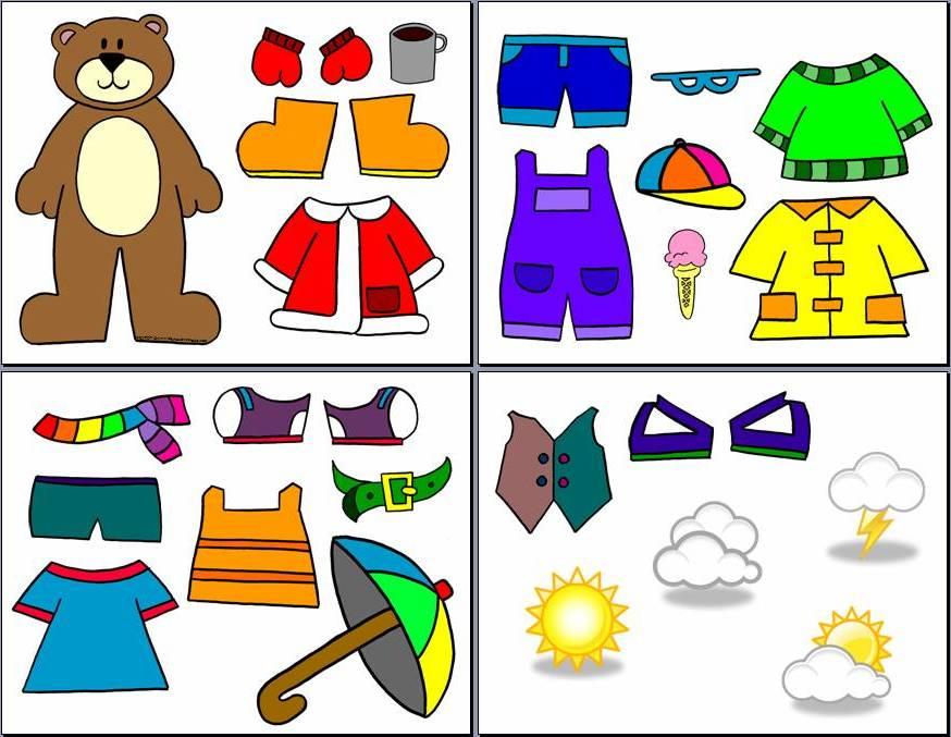 Weather Bear Dress Up.
