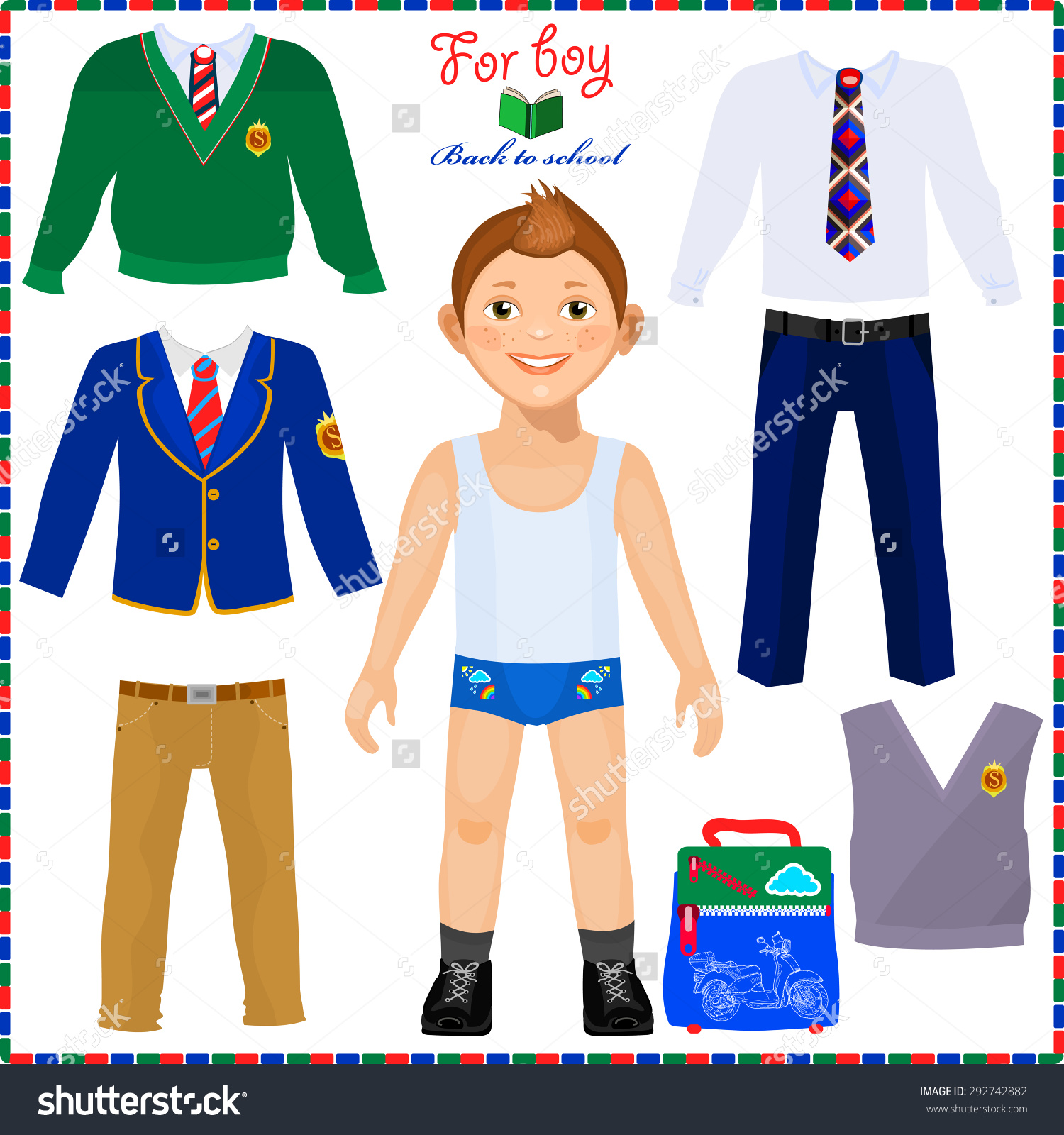 Back To School Outfit Clipart.