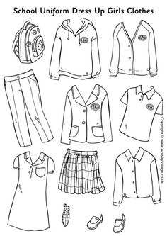 Clothing School Clipart.