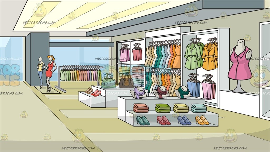 A Clothing Store For Women Background.
