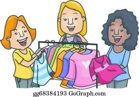 Clothes Swap Clip Art.