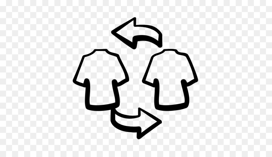 Clothing Swap Line Art png download.