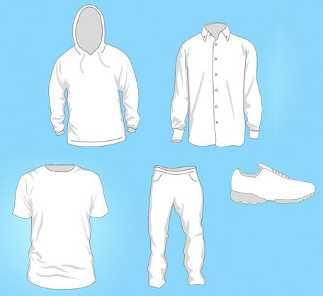 Free Vector Clothing Templates Clipart Picture Free Download.