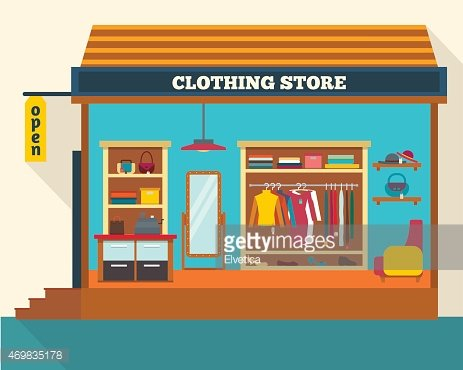 Clothing store. Clipart Image.