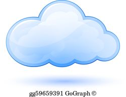 Cloud Computing Clip Art.