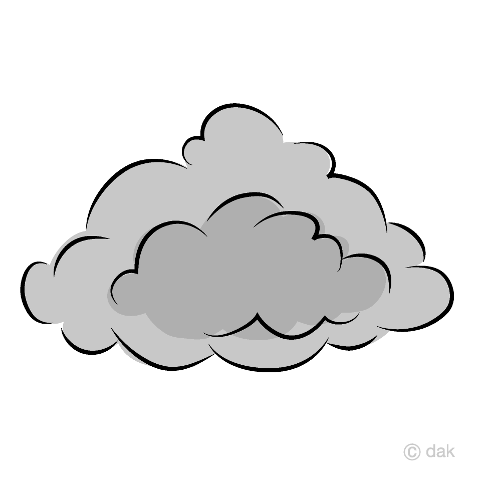 Grey Cloud Clipart Free Picture|Illustoon.