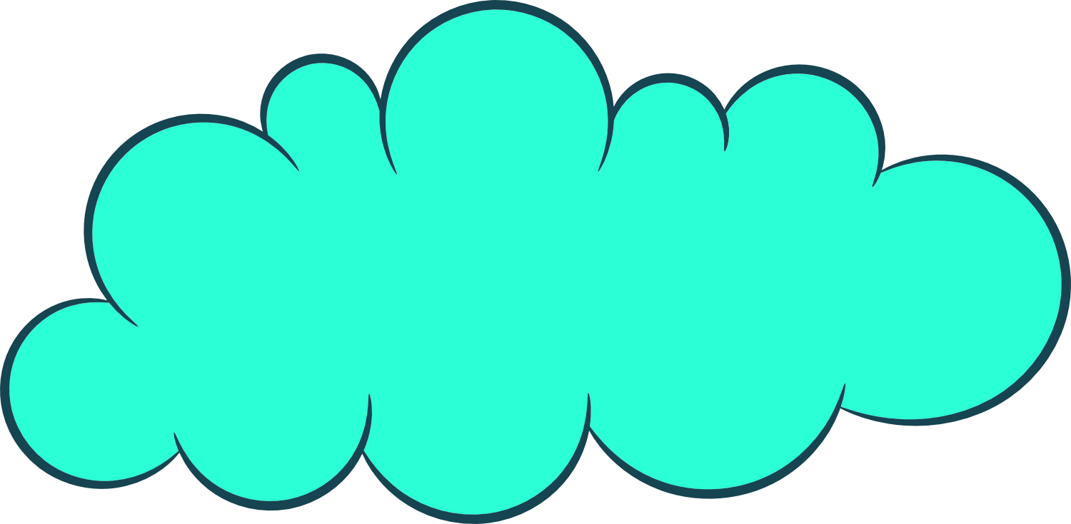 5 Cartoon Clouds (PNG Transparent).