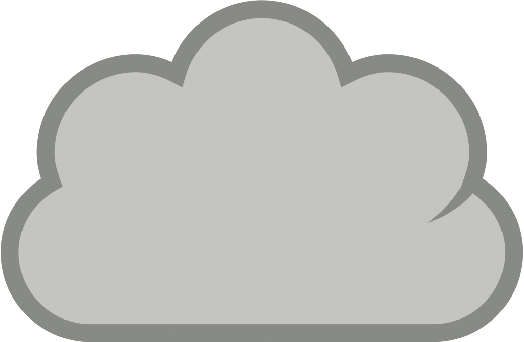 Clipart cartoon cloud computing dot people with symbols of.