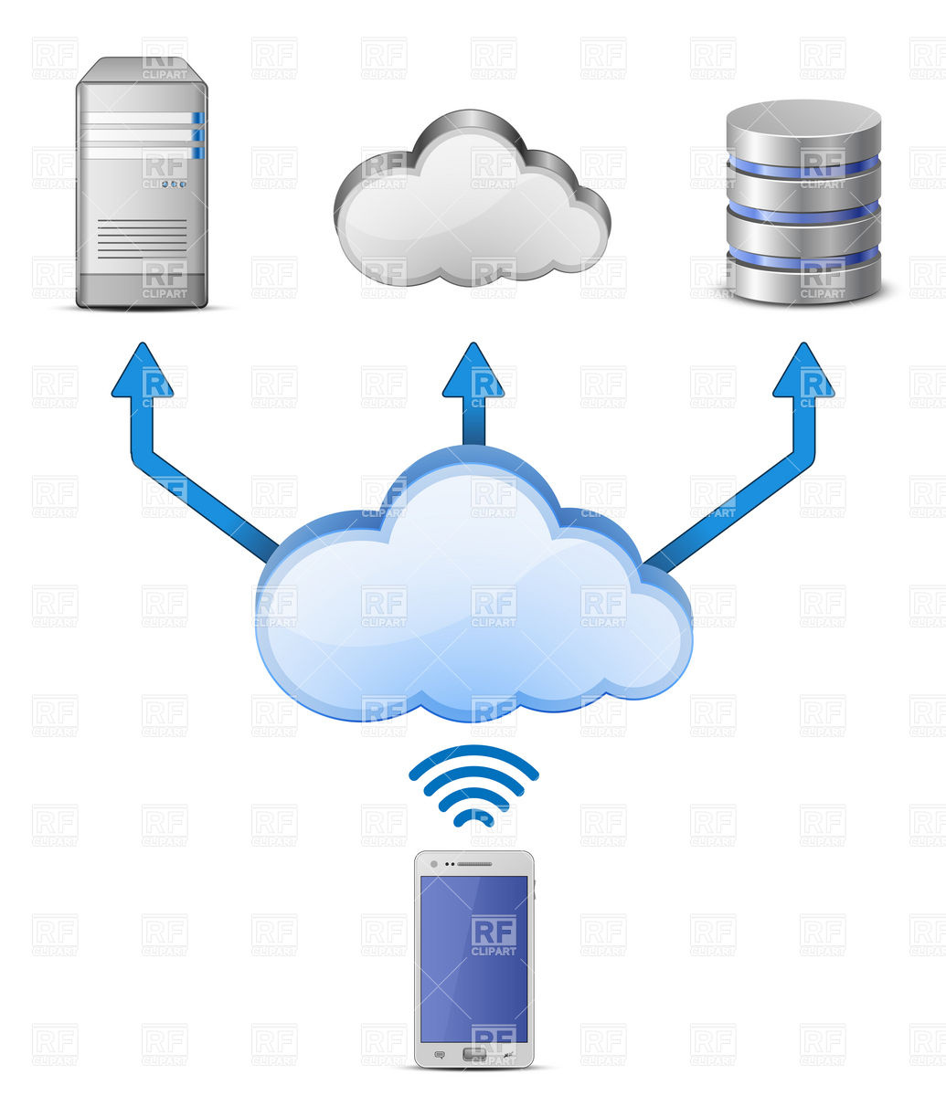 Cloud Computing wireless connection Vector Image #5549.