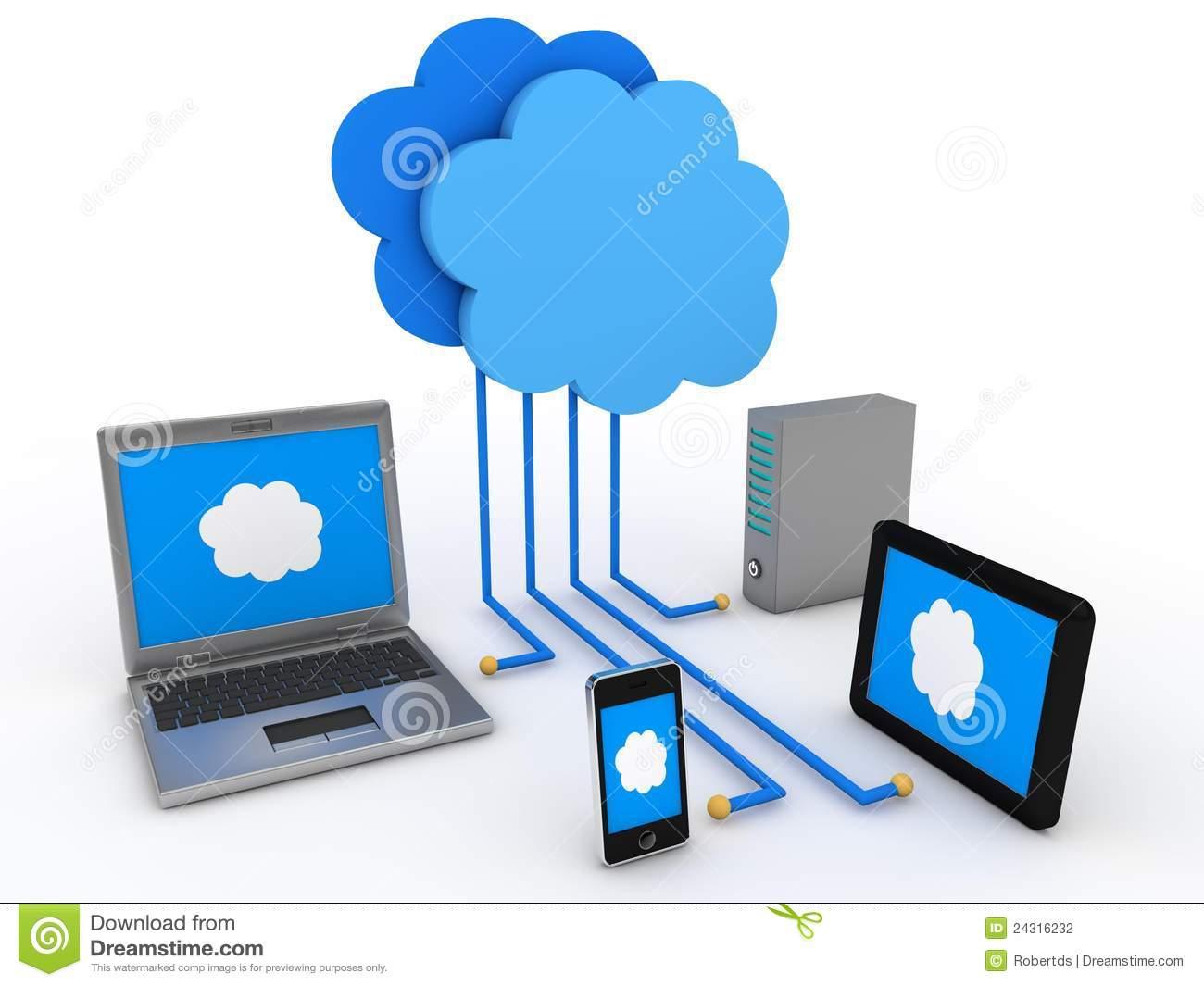 Clip Art Cloud Computing.