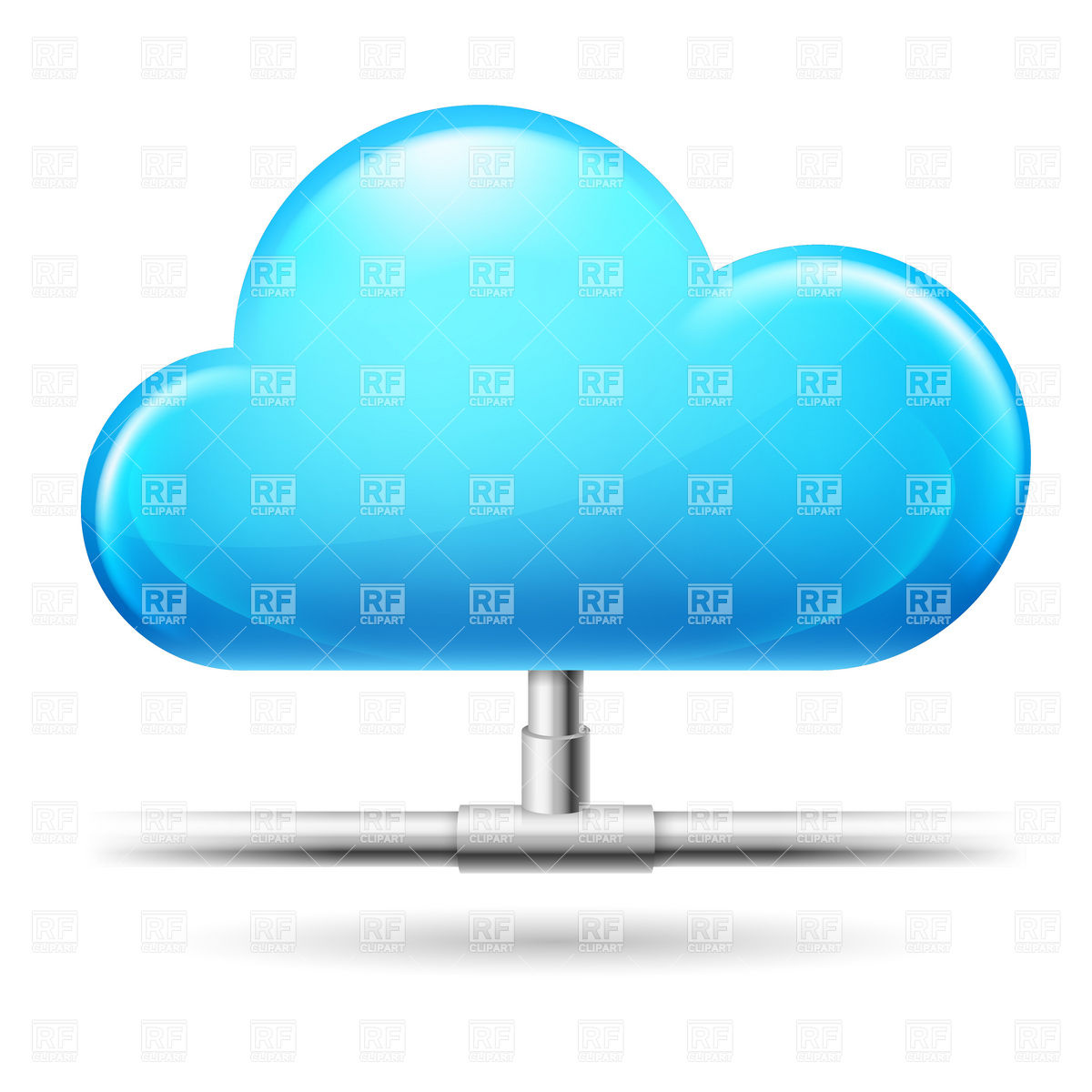 Cloud computing connection icon Vector Image #6484.