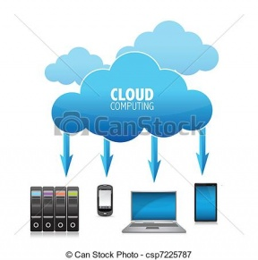 Internet Cloud Symbol Clipart.
