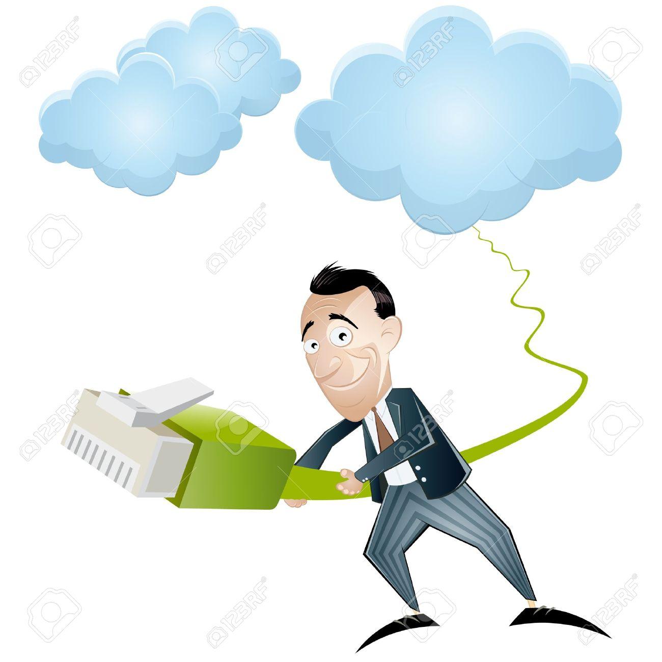 Cloud Computing Cartoon Royalty Free Cliparts, Vectors, And Stock.