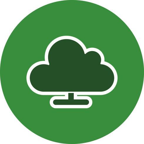 Cloud Computing Vector Icon.