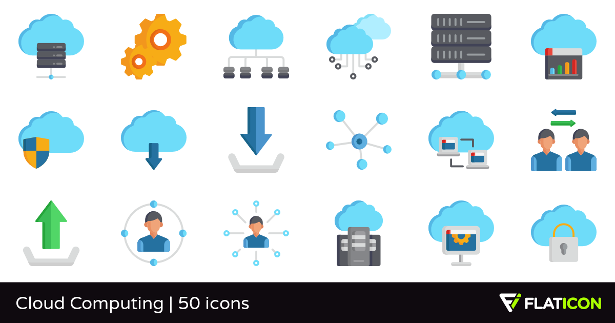 Cloud Computing 50 free icons (SVG, EPS, PSD, PNG files).
