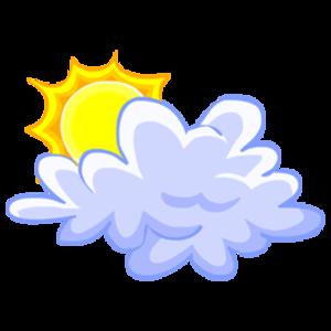 sun with cloud clipart #10