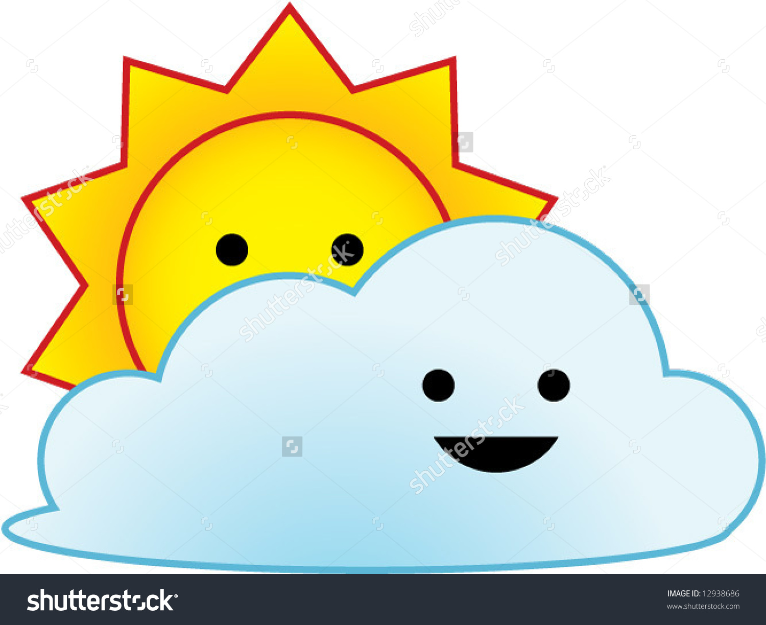 Vector Weather Icon Series Sunny Partial Stock Vector 12938686.