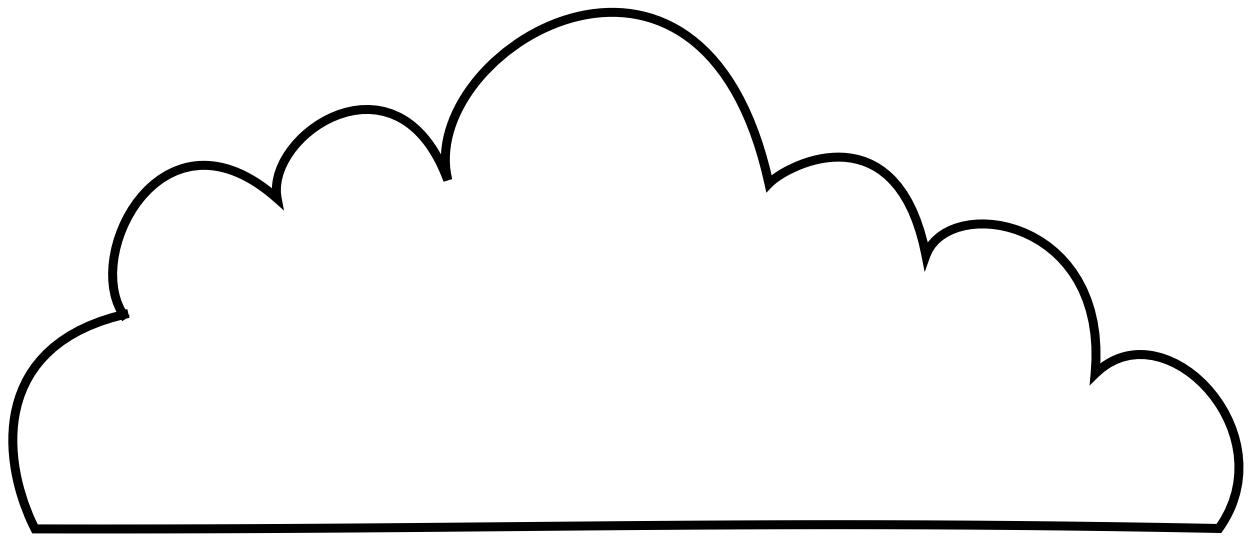 Cloud Template Printable.