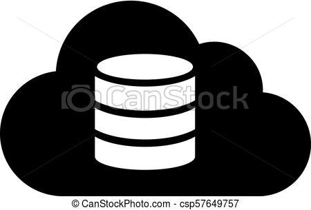 Cloud database icon.