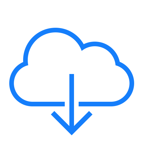 Cloud, download icon.