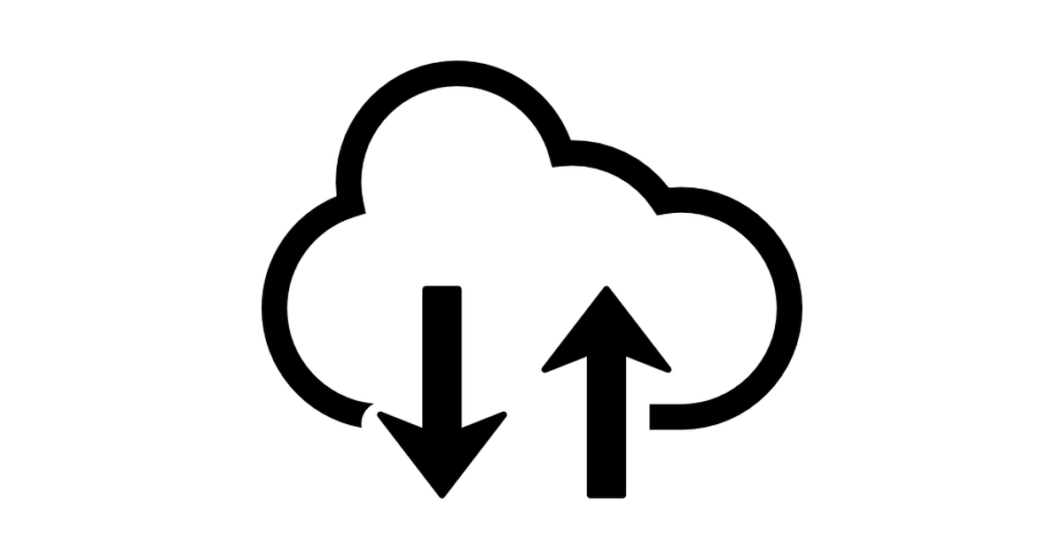 Upload and download from the cloud.