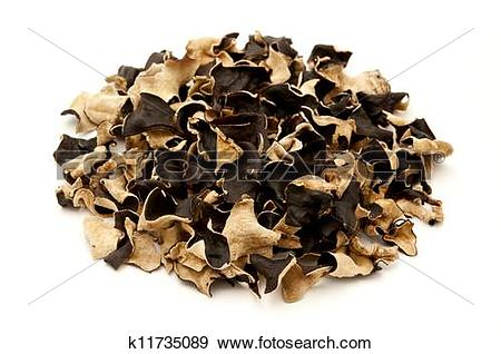 Stock Photograph of Dried cloud ear fungus k11735089.