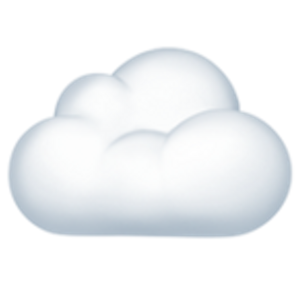 Download White Computing Cloud Emoji Free Download Image HQ PNG.