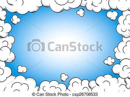 cloud frame with sky as background.