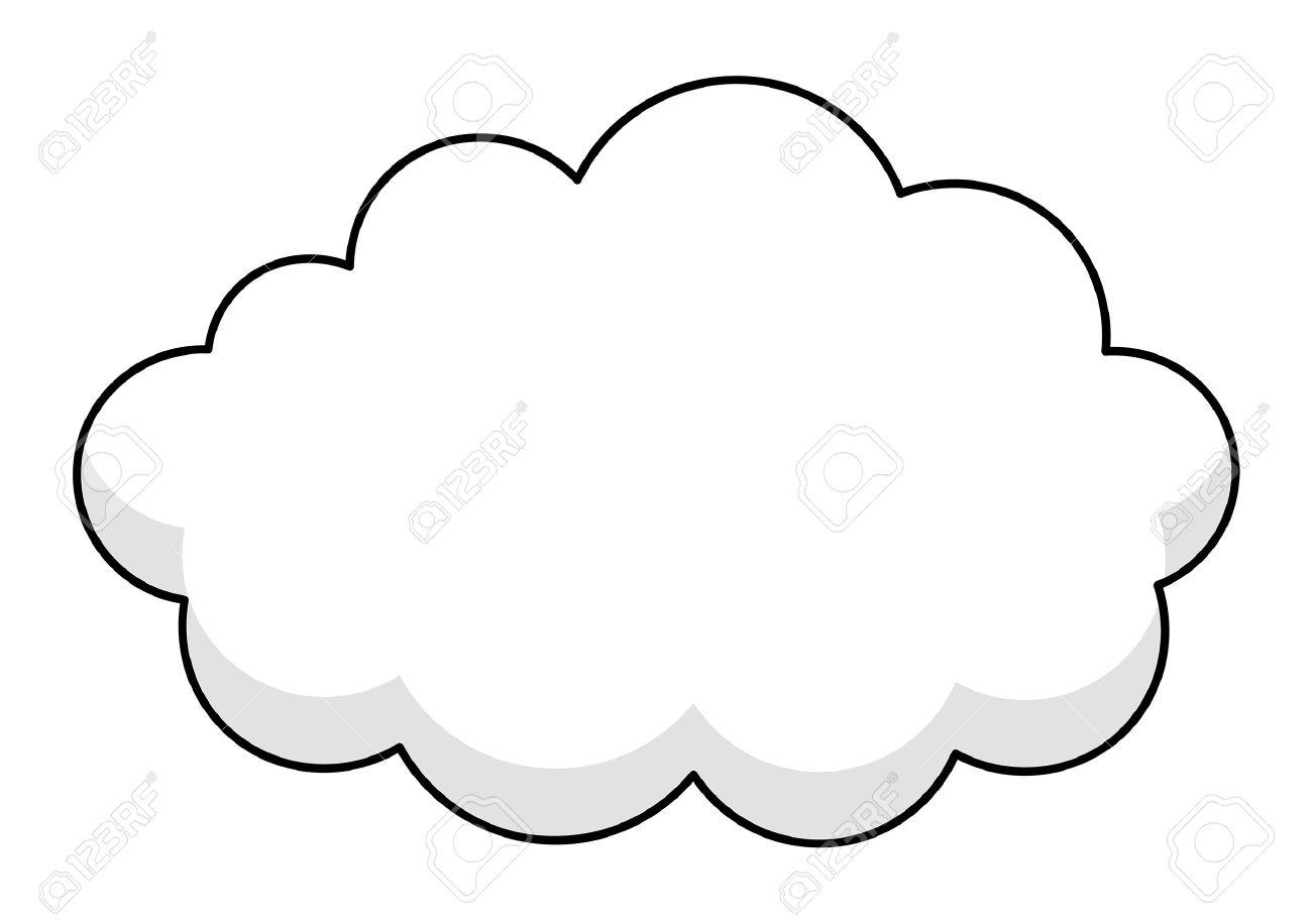 Cloud Frame Vector Frame.